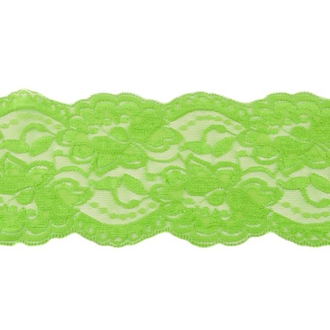 Elastische Spitze - 9,5 cm - Lime