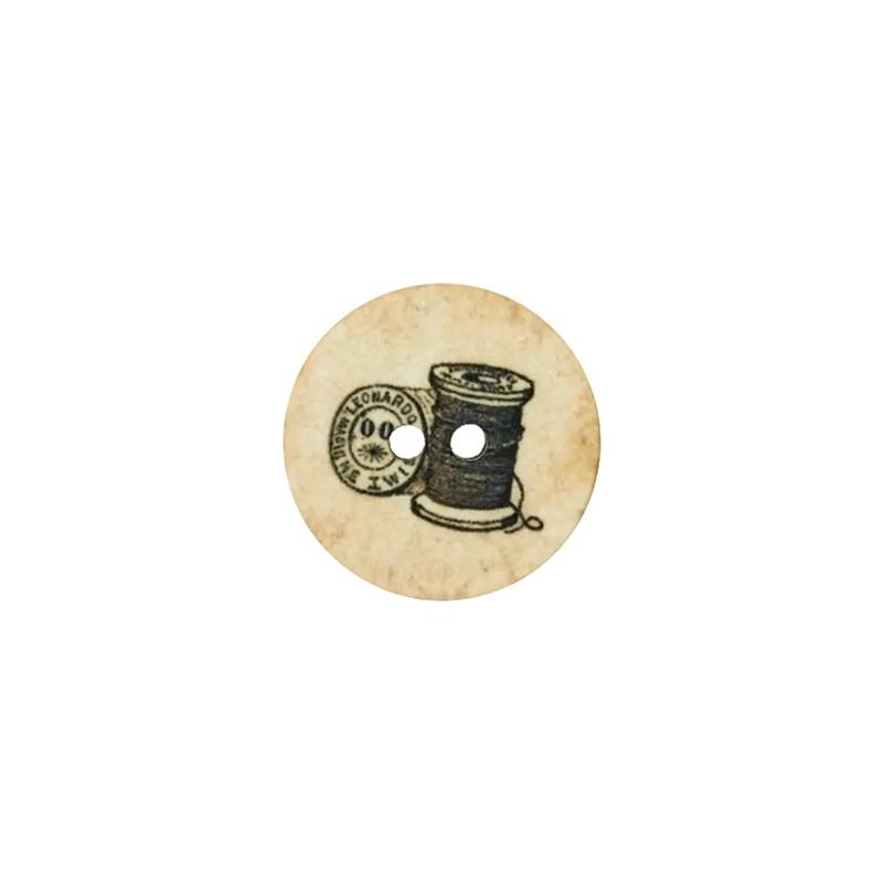 Knopf - Polyesterknopf - 2 Loch - 18mm - Garnrolle