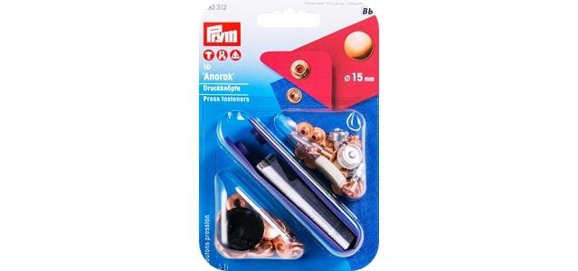 Prym - NF-Druckknopf Anorak MS 15 mm verkupfert