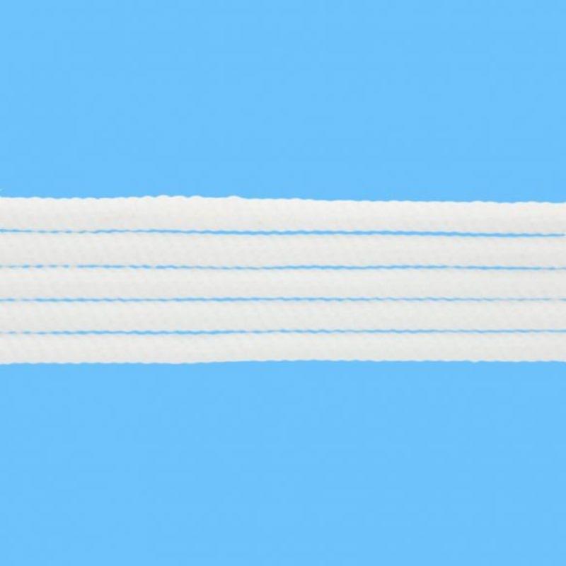 Gedrehte Baumwollkordel - Hoodie Kordel - 8mm - Weiß