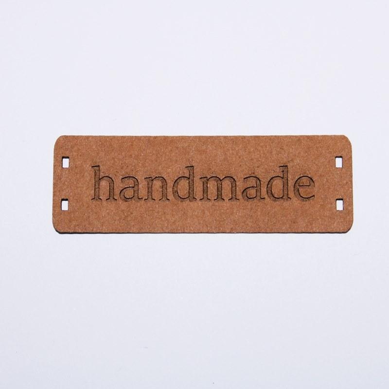 """Schnuckidu  - Label zum Annähen - SnapPap - Schriftzug - """"handmade"""""""
