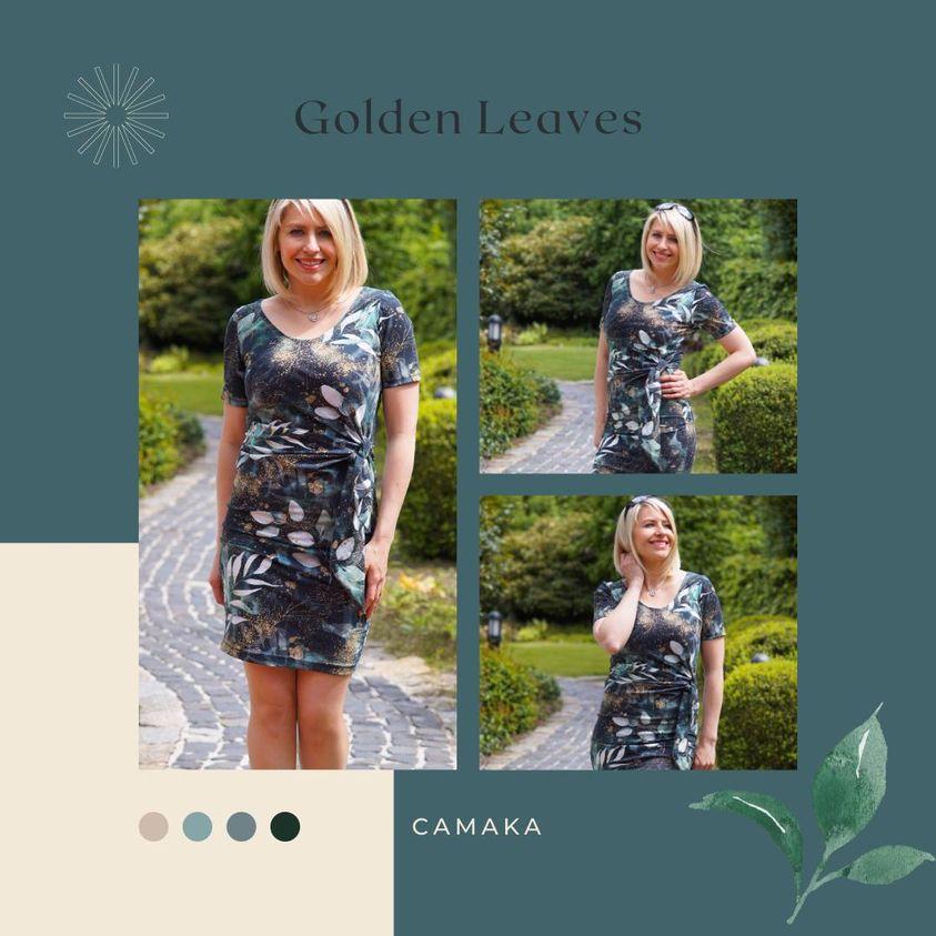 Unsere Eigenproduktion Golden Leaves wurde von der lieben Katharina vernäht.