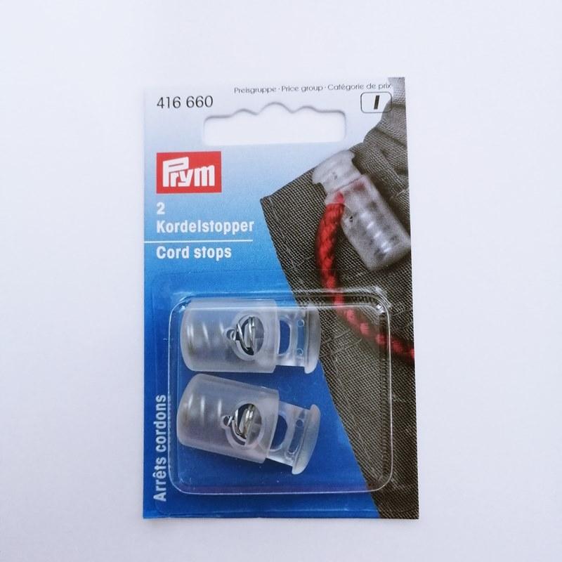 Prym - Kordelstopper - 1-Loch - transparent - 416660