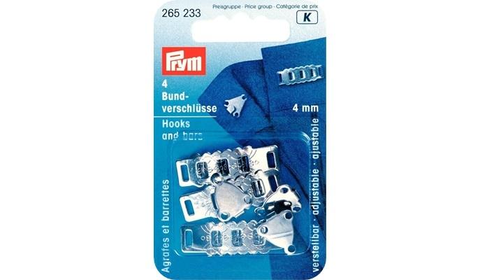 Prym - Rock- und Hosenbundverschlüsse ST 4 mm silberfarbig