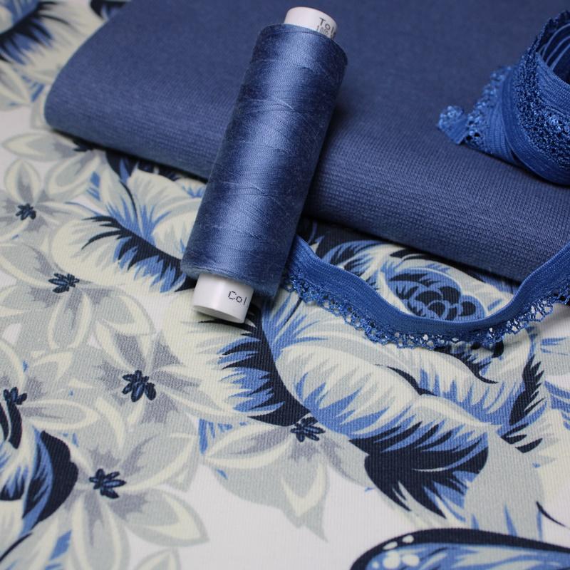 Eigenproduktion - Blue Butterflies - Mini Stoffpaket