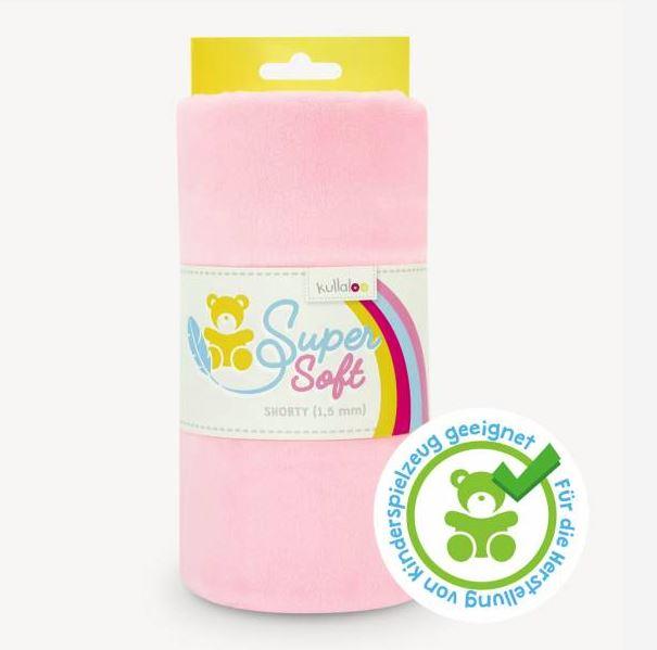 Kullaloo - Super Soft Plüschstoff - Shorty 1,5mm - Baby Rosa