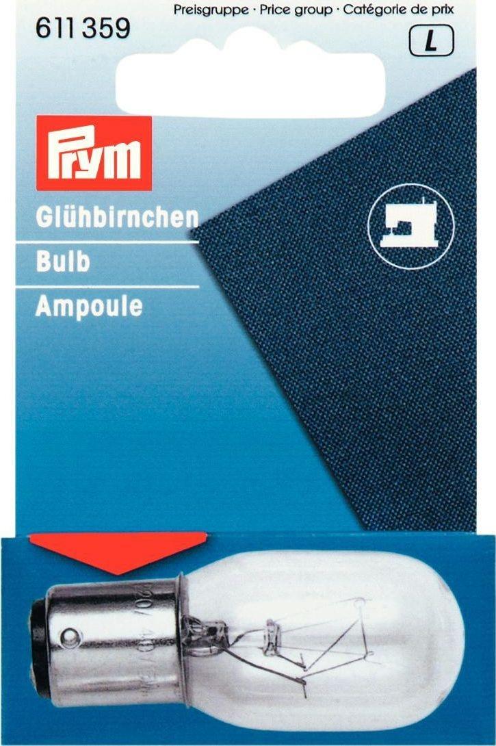 Prym - Glühbirne für Nähmaschinen 15W Bajonett-Fassung