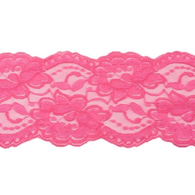 Elastische Spitze - 9,5 cm - Pink
