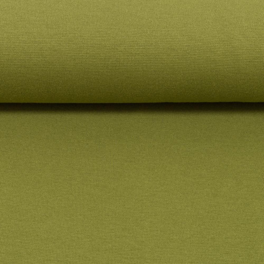 Heike, Schlauchware **Öko-Tex Standard 100**, Bündchen, uni, khaki, Extra breit - 100 cm