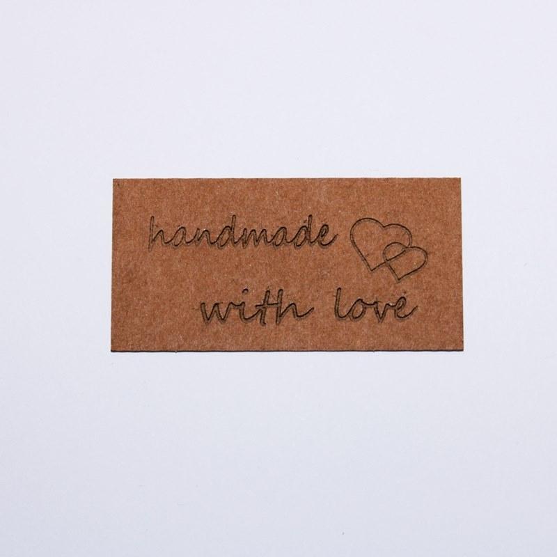 """Schnuckidu  - Label zum Annähen - SnapPap - Schriftzug - """"handmade with Love"""""""