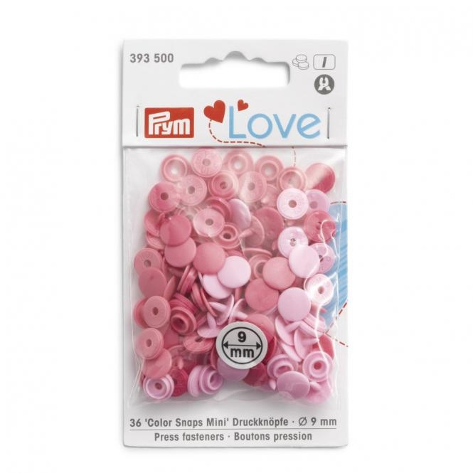 Prym - NF Color Snaps Mini 9mm - Mischpackung - Rosa - 393500