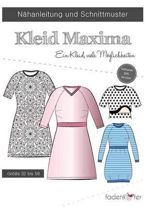 "Papierschnittmuster Fadenkäfer - Kleid ""Maxima"" für Damen"