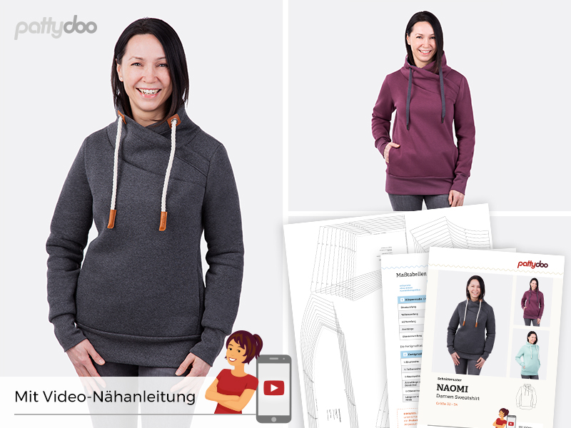 Pattydoo - Schnittmuster Naomi - Damen Sweatshirt