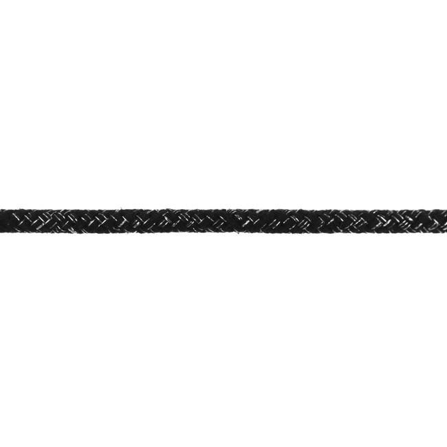 Kordel mit Lurex  - 10mm - Silber/Schwarz