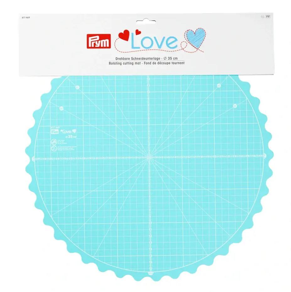PRYM Love  - Drehbare Schneideunterlage Ø 35 cm