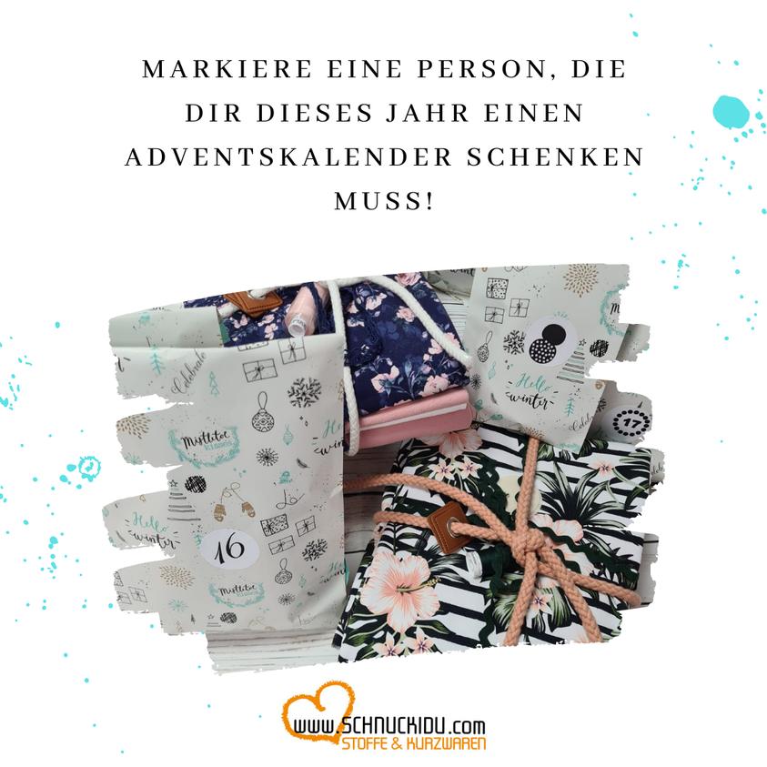 Markiere eine Person, die dir dieses Jahr einen Adventskalender schenken muss!