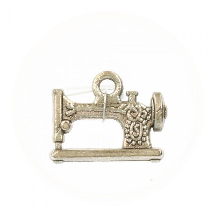 Anhänger Nähmaschine Silber - Modeschmuck - Charms - 20 mm x 16 mm