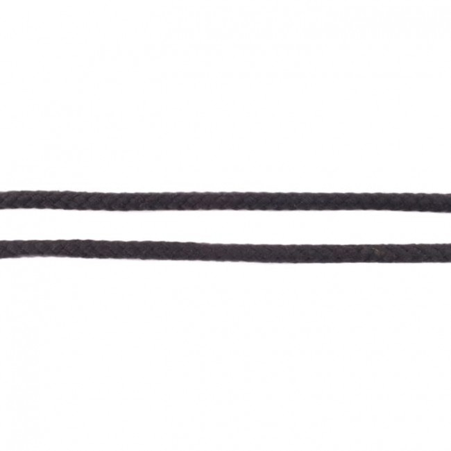 Doppelt gewebte Baumwollkordel - 8mm - Schwarz