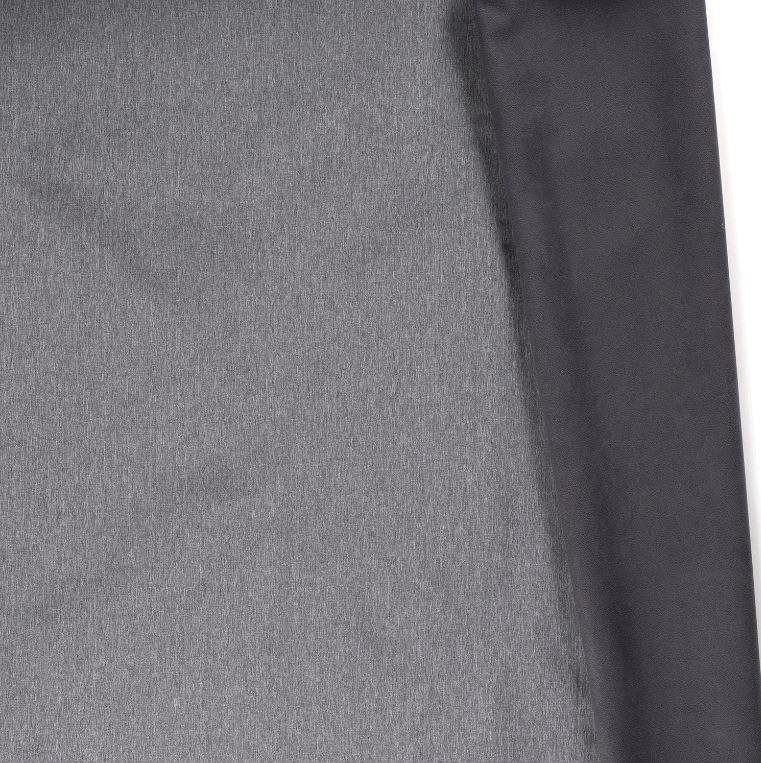 Softshell mit Plüschabseite - Uni - Mittelgrau Meliert
