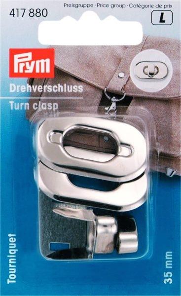 Prym - Drehverschluss für Taschen silberfarbig - 35mm - 1 Stück