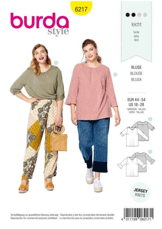 Burda Style 6217 Schnittmuster - Bluse - Damen 34 - 44 - Level 2 Leicht