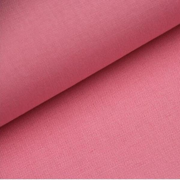 Baumwoll Stoff - Baumwolle - Uni - Rosa