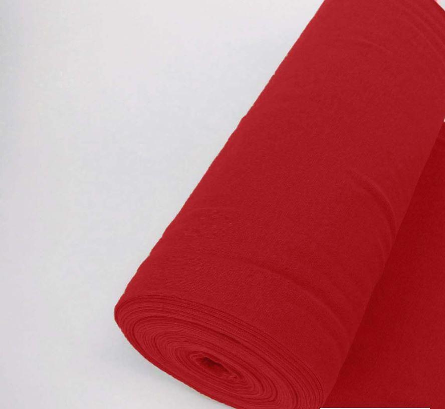 Bündchen Stoff Feinripp Uni - Rot
