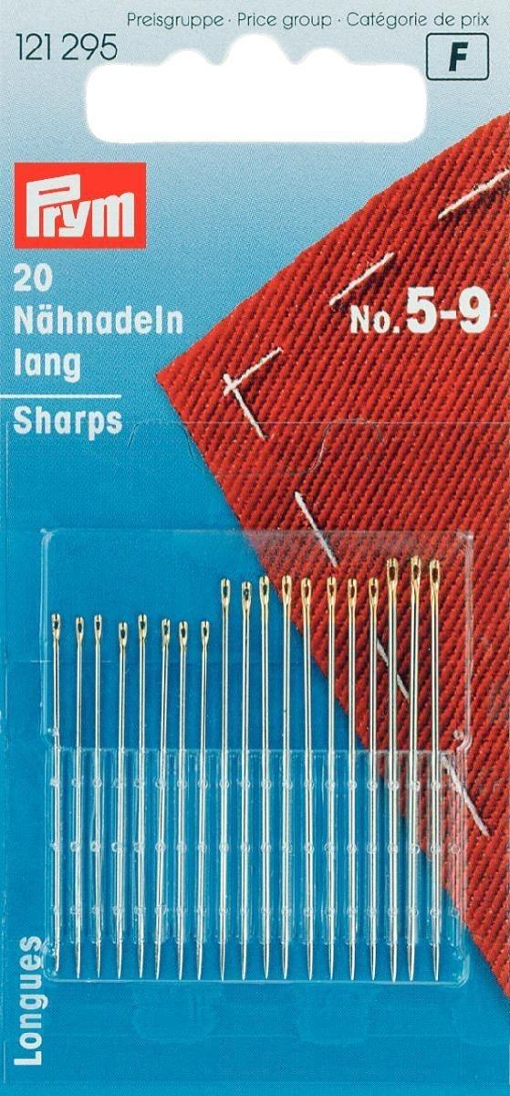 Prym - Nähnadeln lang ST 5-9 silberfarbig/goldfarbig