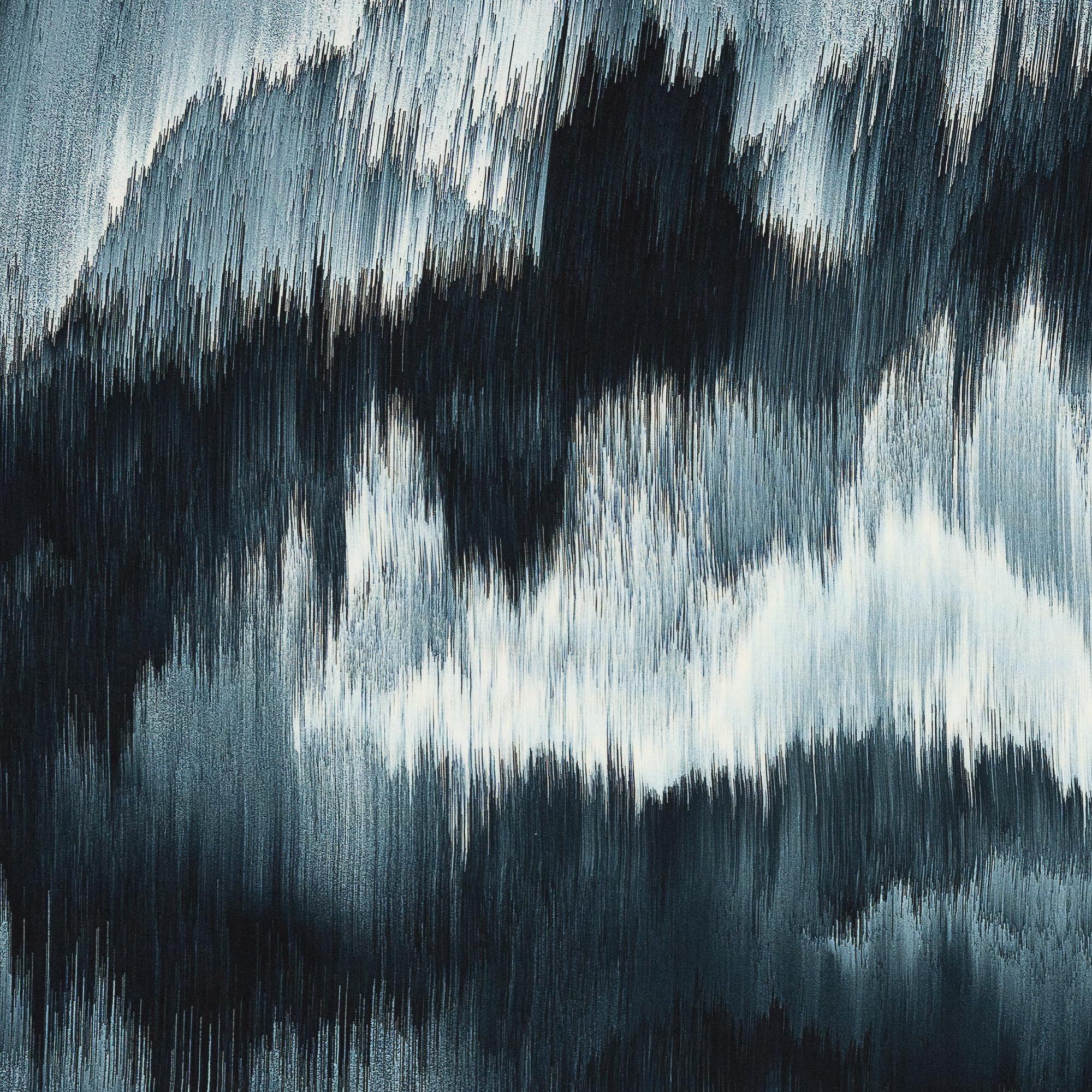 Viskose - Viskosewebware - Swafing - Dripstones by Thorsten Berger - Muster in Petroltönen
