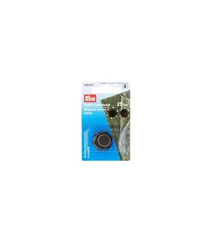 Prym - Magnet-Annähknopf 25 mm altmessing 416477