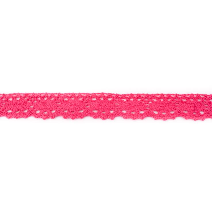 Baumwollspitze - Klöppelspitze - 2,5 cm - Pink