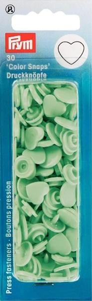 Prym - NF Druckknöpfe Color Snaps Herz - Mint