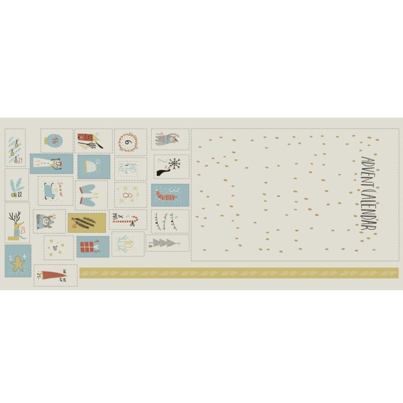 Katia Fabrics - Canvas - Dekostoff - Panel - XMAS Deco - Panel für einen kompletten Adventskalender