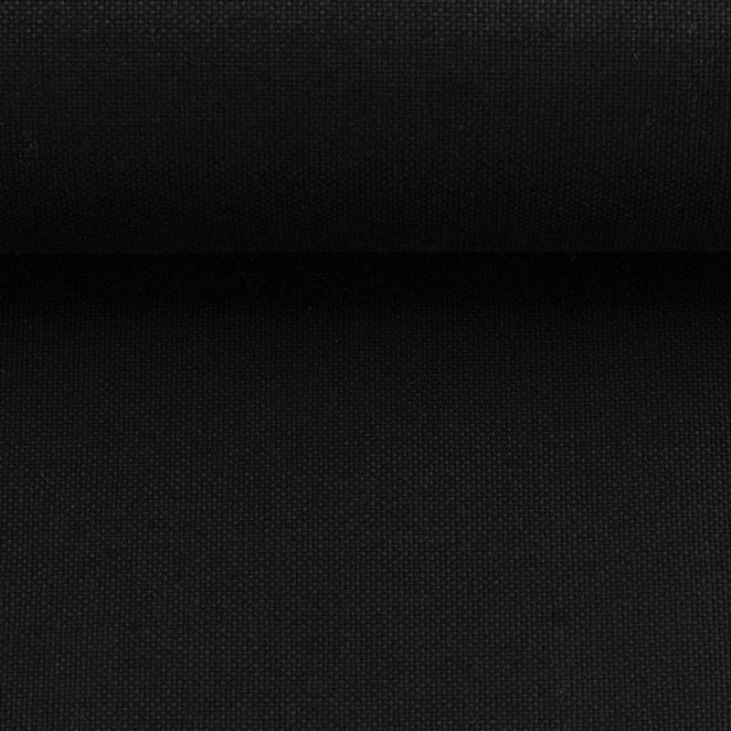 Canvas - Dekostoff - Leinenoptik - Swafing - Calvin - Uni - Schwarz