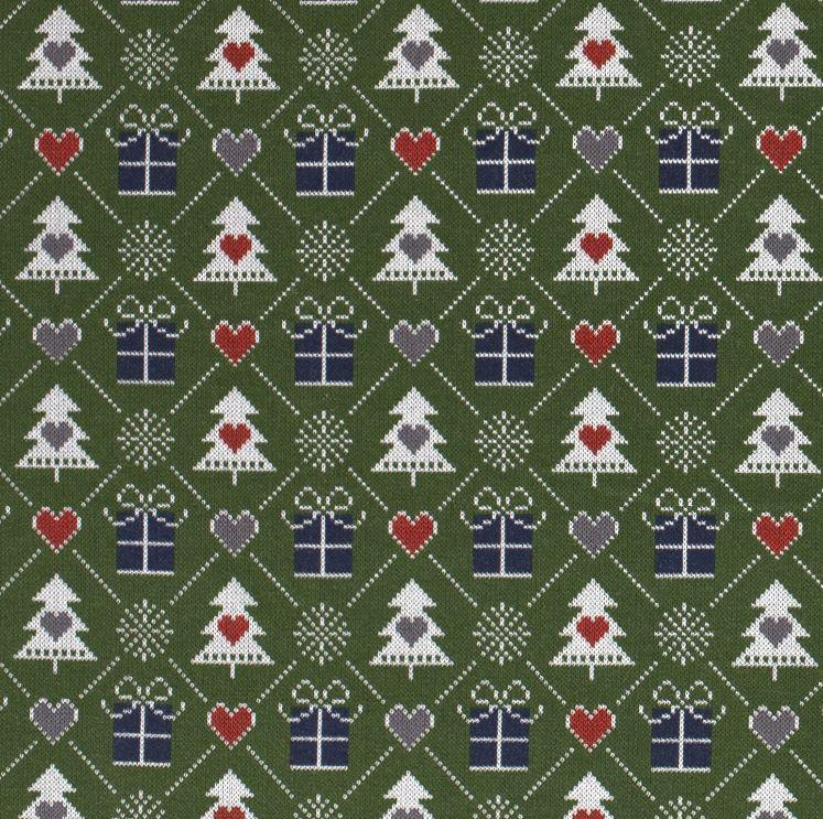 Sweat - leicht angeraut - Weihnachtliches Motiv im Pixeldesign - Grün