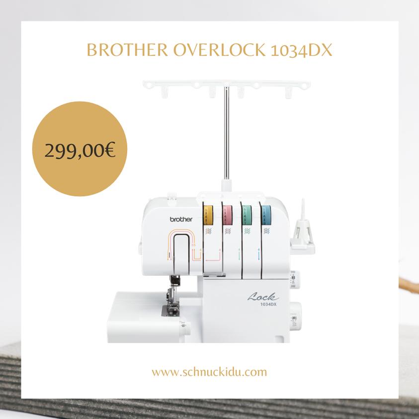 Mit der 1034DX Overlocker-Maschine verarbeiten Sie Ihre Projekte in Vollendung, ohne ins Schwitzen zu kommen.