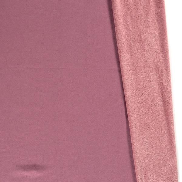 Alpenfleece - Sweat Stoff mit Plüschfell-Abseite - Uni - Altpink