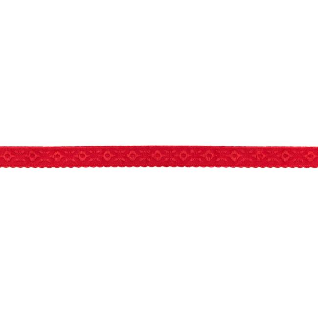 Elastisches und vorgefalztes Einfassband mit Verzierung - Rot