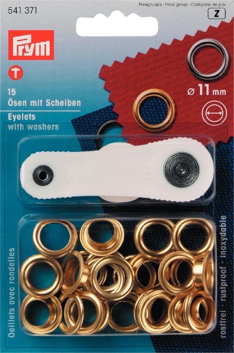 Ösen und Scheiben MS 11,0 mm goldfarbig