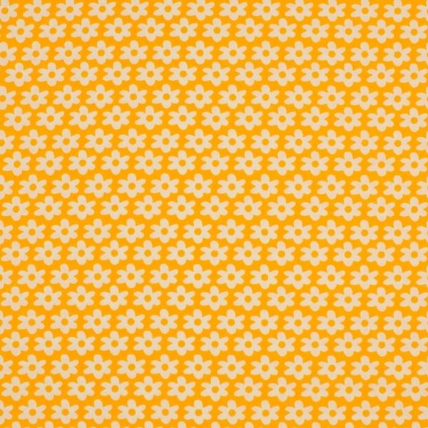 """Baumwolle - Baumwoll Stoff - """"Daisy"""" - Blümchen auf Gelb"""