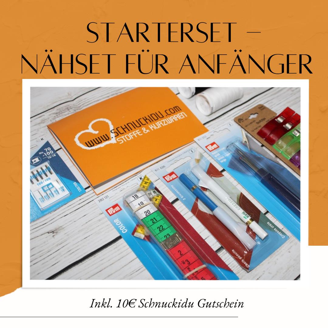 Schnuckidu Starterset - Nähset für Anfänger - Inkl. 10€ Gutschein