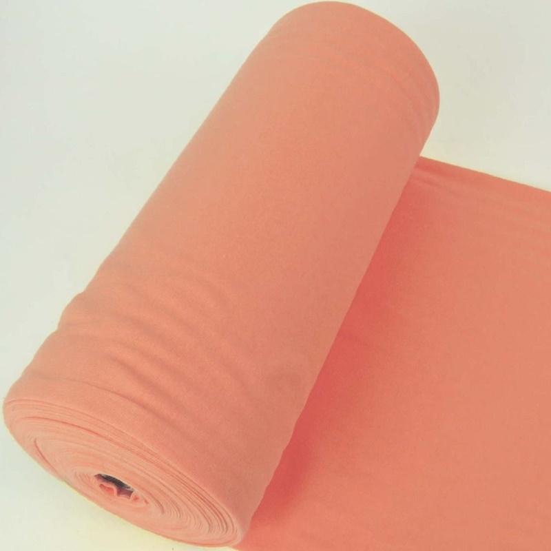 Bündchen Stoff Feinripp Uni - Orange Melange