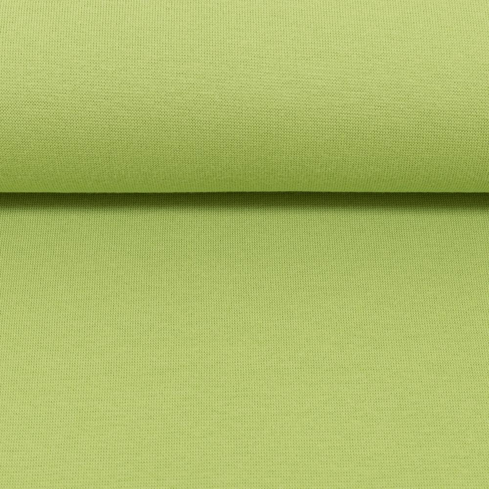 Heike, Schlauchware **Öko-Tex Standard 100**, Bündchen, uni, kiwigrün - Extra breit - 100 cm