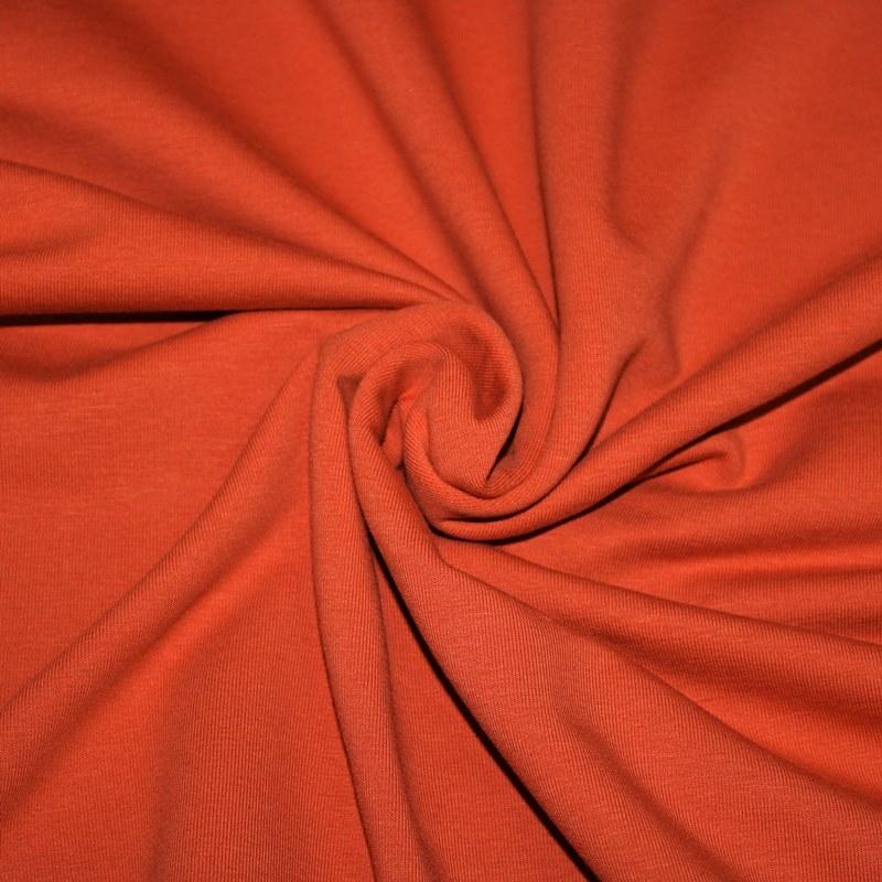 Ganzjahressweat Stoff - Sweat - angeraut - Terracotta