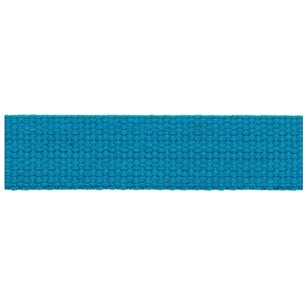 Hochwertiges Gurtband Baumwolle - Baumwollgurtband - 30mm - Aqua