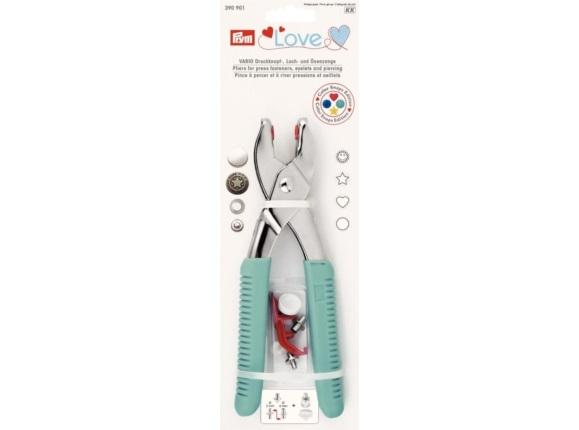 Prym Love Vario-Zange mit Loch-/Color Snaps Werkzeug - 390901