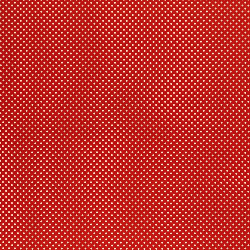 Webware - Baumwoll Stoff - Swafing - Joel - Punkte in Weiß auf Rot