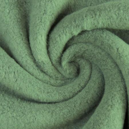 Fleece - Baumwollfleece - Uni - Altgrün
