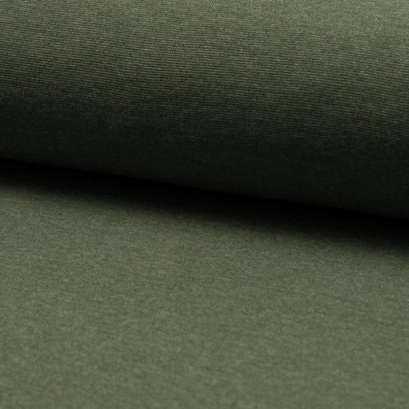 Bündchen Feinripp Melange - Khaki