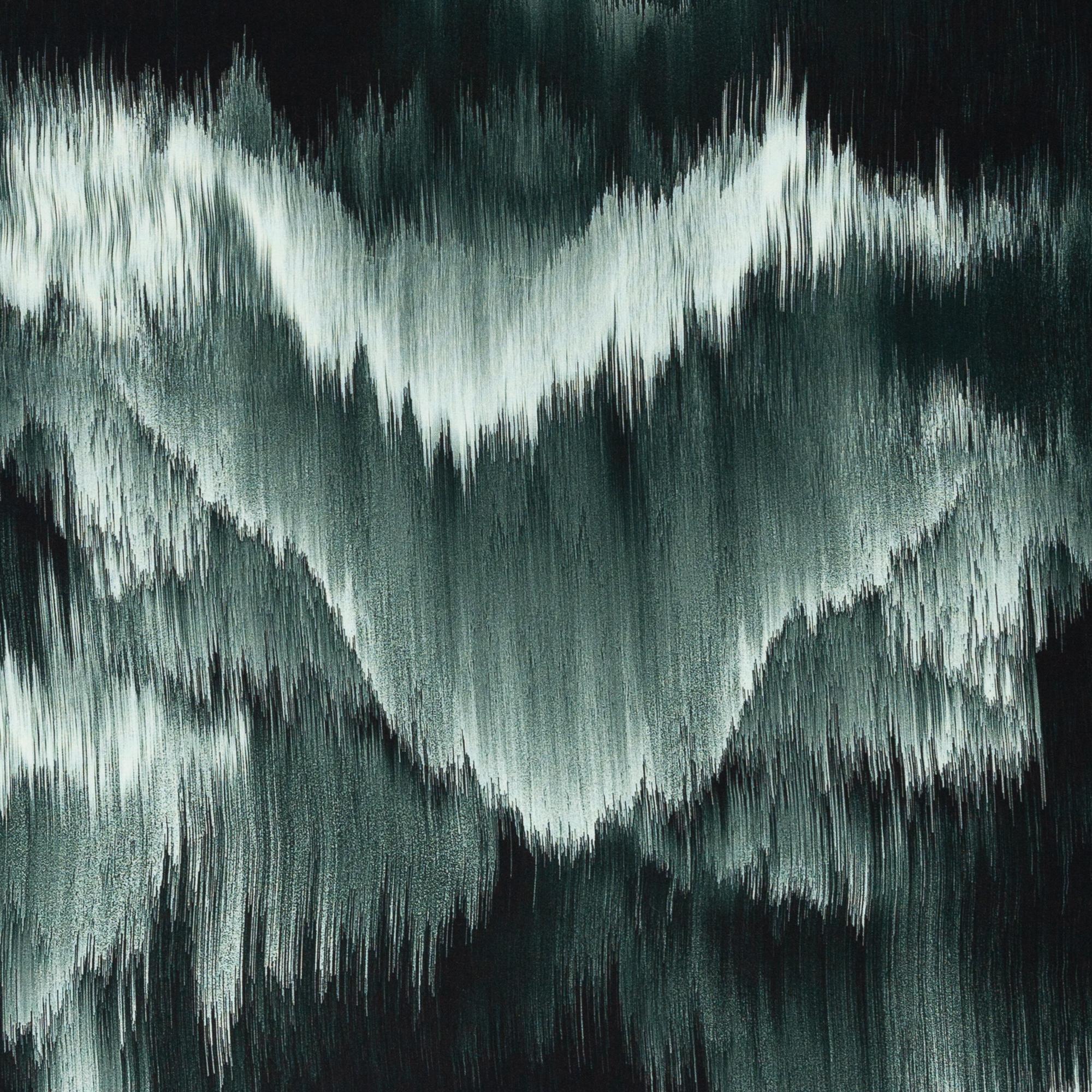Viskose - Viskosewebware - Swafing - Dripstones by Thorsten Berger - Muster in Grüntöne